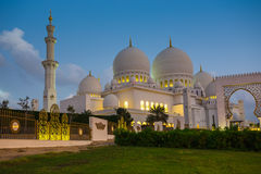 The Shaikh Zayed Mosque Royalty Free Stock Photos
