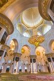 Shaikh Zayed Mosque Inter- Lizenzfreies Stockbild