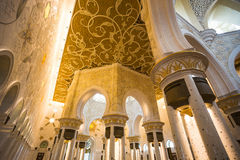 Shaikh Zayed Mosque Inter- Lizenzfreie Stockbilder