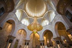 Shaikh Zayed Mosque Inter- Lizenzfreie Stockfotografie