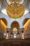 Shaikh Zayed Mosque Inter- Stockfotos