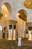 The Shaikh Zayed Mosque inter Royalty Free Stock Images