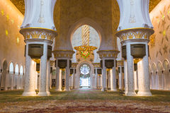 The Shaikh Zayed Mosque inter Stock Image