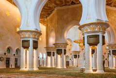 The Shaikh Zayed Mosque inter Royalty Free Stock Photo
