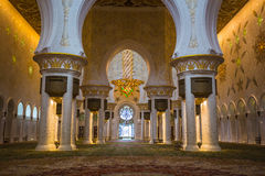 The Shaikh Zayed Mosque inter Stock Photography