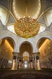 The Shaikh Zayed Mosque inter Royalty Free Stock Photos