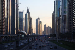 Shaikh Zayed Road Stock Afbeeldingen