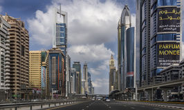 Shaikh Zayed Road - Dubai Stock Photo