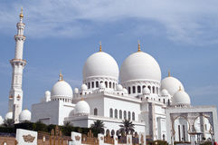 Shaikh Zayed's mosque Stock Photos