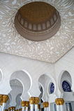 Shaikh Zayed's mosque interior Royalty Free Stock Photo