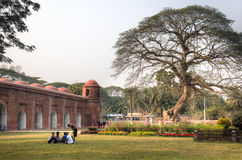 Shait Gumbad清真寺在Bagerhat,孟加拉国 图库摄影