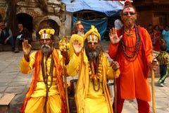 shaiva sadhu του Νεπάλ Στοκ Φωτογραφίες