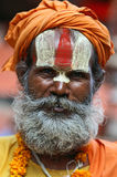 shaiva sadhu портрета Стоковые Изображения