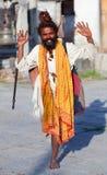 Shaiva sadhu (holy man) Royalty Free Stock Images