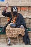 Shaiva sadhu (holy man) in Varanasi stock photography