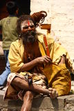 Shaiva sadhu in Nepal Stock Photos