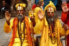 Shaiva sadhu in Nepal Stock Photos