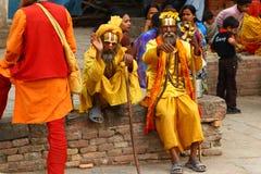 Shaiva sadhu in Nepal Stock Photo