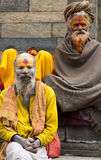 Shaiva sadhu smiling and posing on the street Stock Photography