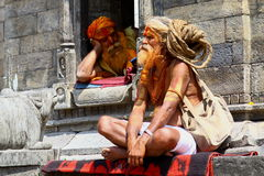 Shaiva sadhus in Nepal Royalty Free Stock Photography
