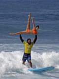 Shaka Lift. Event:  Buffalo Big Boy Surfing Classic 22.II.14 Royalty Free Stock Photo