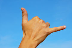 Shaka sign Royalty Free Stock Image