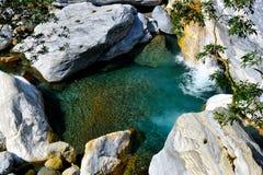 Shakadang Trail Pool. A beatiful turquoise water along Shakadang trail [Mysterious Valley Trail], Taroko National Park Royalty Free Stock Photos