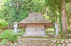 Shakado Corridoio del santuario di Hachiman nel villaggio di stile di gassho di Ogimachi Immagine Stock