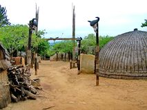 Shakaland, wejściowej bramy zulu inside wioska Zdjęcie Royalty Free