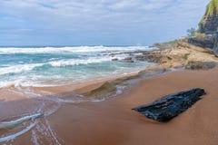 Shakas Rock, Kwazulu Natal, South Africa. The beautiful coastline of Kwazulu Natal, South Africa Royalty Free Stock Photo