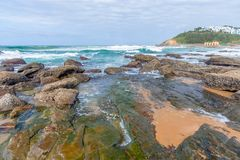 Shakas Rock, Kwazulu Natal, South Africa. The beautiful coastline of Kwazulu Natal, South Africa Stock Photography