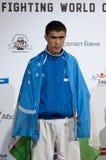 Shakboz Tursunov, medaglia d'oro Immagine Stock
