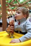 shake выпивая молока мальчика Стоковое фото RF