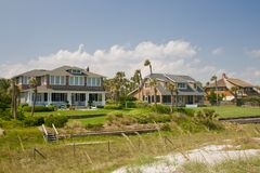 Shake exterior beachfront home Royalty Free Stock Photo