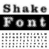 Shake font Royalty Free Stock Images