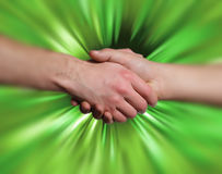 Shake hand background Stock Images
