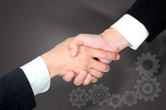 Shake hand for good relationship Royalty Free Stock Photo
