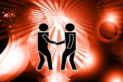 Shake hand images in abstract background Royalty Free Stock Image