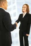 Shake Hand In Office Stock Image