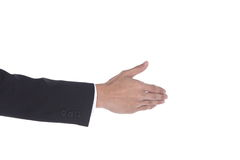 Shake Hand one man acting to do with other side view Royalty Free Stock Photo