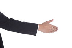 Shake Hand one man acting to do with other side view Stock Photography
