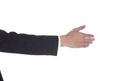 Shake Hand one man acting to do with other side view Royalty Free Stock Photos