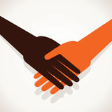 Shake hand stock. Background vector Royalty Free Stock Images