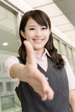 Shake hand with you Royalty Free Stock Images