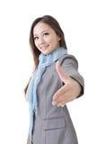 Shake hand with you Stock Image