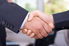 Shake hands. Shaking hands after a business meeting Stock Photography