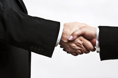 Shake hands. Business people shake their hands Royalty Free Stock Photography