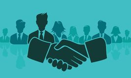 Shake hands concept illustration flat design Royalty Free Stock Photos
