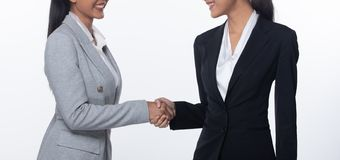 Shake Hands first meet to success deal business stock image