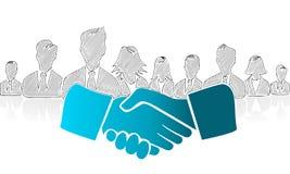 Shake hands. Hand drawn shake hands. Concept vector illustration symbol Stock Photos